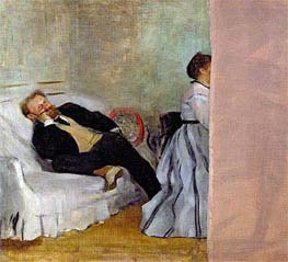 Degas | Monsieur and Madame Edouard Manet, c.1868/69 | Giclée Canvas Print