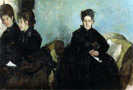 Degas | Duchesa di Montejasi with Her Daughters, Elena and Camilla | Giclée Canvas Print
