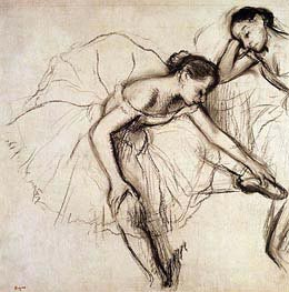 Degas | Two Dancers Resting | Giclée Canvas Print