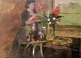 Degas | Young Woman Arranging Flowers | Giclée Canvas Print