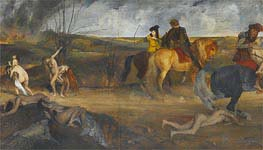 Degas | Scene of War in the Middle Ages | Giclée Canvas Print
