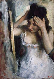 Degas | Woman Combing Her Hair Before a Mirror | Giclée Paper Print