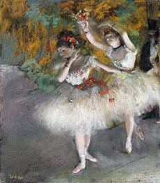 Degas | Two Dancers Entering the Stage | Giclée Canvas Print