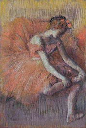 Degas | Dancer Adjusting her Shoe | Giclée Paper Print