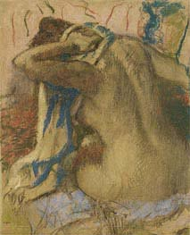 Degas | Woman Drying Her Hair, 1885 | Giclée Paper Print