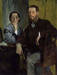 Degas | Edmondo and Therese Morbilli, c.1867 | Giclée Canvas Print
