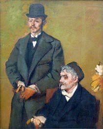 Degas | Henri Rouart with His Son Alexis, 1895 | Giclée Canvas Print