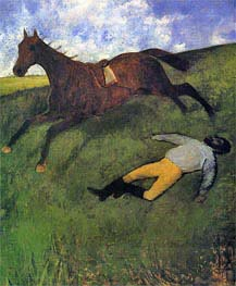 Degas | The Fallen Jockey | Giclée Canvas Print