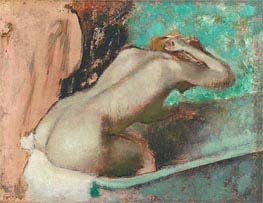 Degas | Woman Seated on a Bathtub Sponging Her Neck, c.1880/95 | Giclée Canvas Print