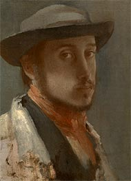 Degas | Self-Portrait, c.1857/58 | Giclée Canvas Print