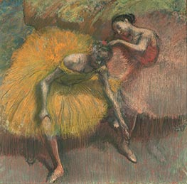 Degas | Two Dancers Yellow and Pink, 1898 | Giclée Paper Print