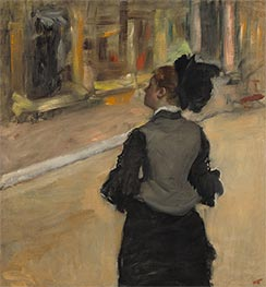 Degas | Woman Viewed from Behind (Visit to a Museum), c.1879/85 | Giclée Canvas Print