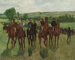 Degas | The Riders, c.1885 | Giclée Canvas Print