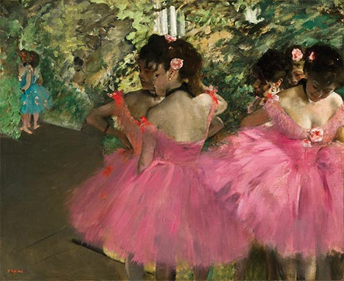 Dancers in Pink, c.1876 | Degas | Giclée Canvas Print