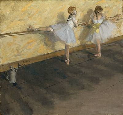 Dancers Practicing at the Barre, 1877 | Degas | Giclée Canvas Print