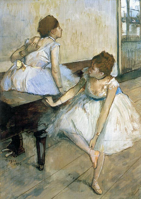 Two Dancers Resting, 1874   Degas   Painting Reproduction