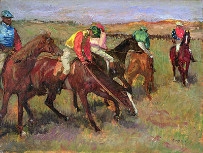 Before the Race, c.1882 | Degas | Painting Reproduction