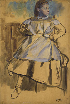 Giulia Bellelli, c.1858/59 | Degas | Painting Reproduction