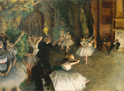 The Rehearsal of the Ballet Onstage, c.1874 | Degas | Giclée Canvas Print