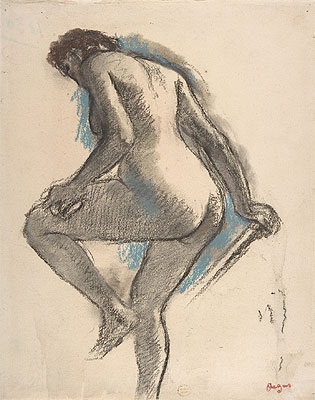 Bather Sponging Her Knee, c.1883/84 | Degas | Giclée Paper Print