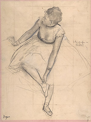 Dancer Adjusting Her Slipper, 1873 | Degas | Giclée Paper Print