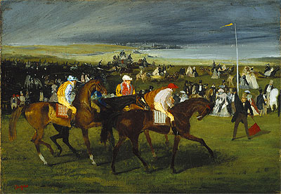 At the Races: The Start, c.1860/862 | Degas | Painting Reproduction