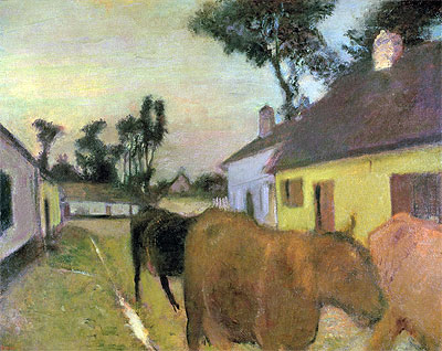 Return of the Herd, undated | Degas | Giclée Canvas Print