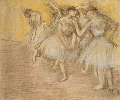 Five Dancers on Stage, c.1906/08 | Degas | Giclée Paper Print