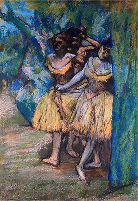 Three Dancers with a Backdrop of Trees and Rocks, c.1904/06 | Degas | Giclée Paper Print