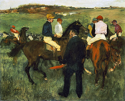 Racehorses (Leaving the Weighing), c.1874/78 | Degas | Giclée Canvas Print