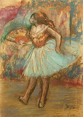 Dancer with a Fan, c.1895/00 | Degas | Giclée Paper Print