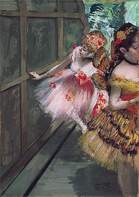 Dancers in the Wings, 1880 | Degas | Painting Reproduction