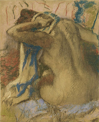 Woman Drying Her Hair, 1885 | Degas | Giclée Paper Print