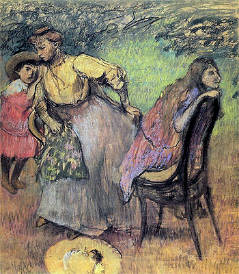 Madame Rouart with her Children, c.1905 | Degas | Giclée Paper Print