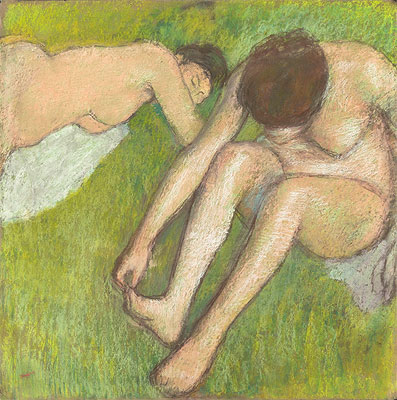 Two Bathers on the Grass, c.1886/90 | Degas | Giclée Paper Print
