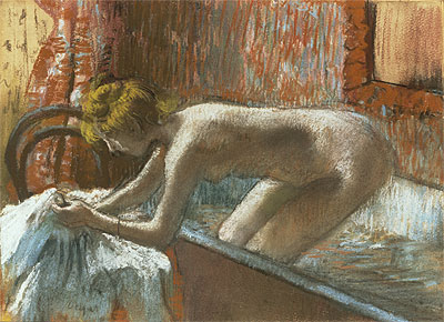 Woman Leaving Her Bath, c.1886 | Degas | Painting Reproduction