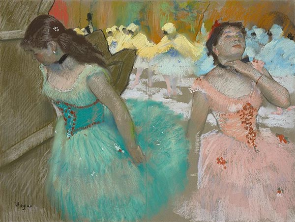 Entrance of the Masked Dancers, c.1879 | Degas | Painting Reproduction