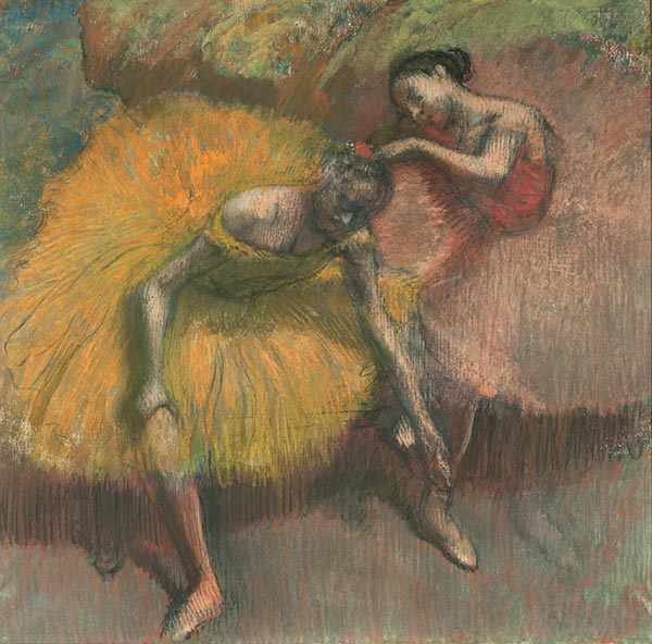 Two Dancers Yellow and Pink, 1898 | Degas | Giclée Paper Print