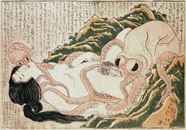 Hokusai | The Dream of the Fisherman's Wife, 1814 | Giclée Paper Print