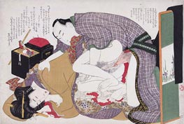 Hokusai | Love Couple at Sewing Box, c.1812/14 | Giclée Paper Print