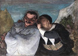 Honore Daumier | Crispin and Scapin (Scapin and Sylvester), c.1863/65 | Giclée Canvas Print