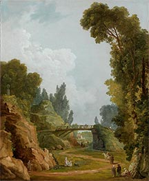 Hubert Robert | The Rustic Bridge, Chateau de Mereville, France, c.1785 | Giclée Canvas Print
