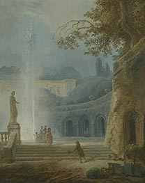 Hubert Robert | The Fountain, c.1775/78 | Giclée Canvas Print
