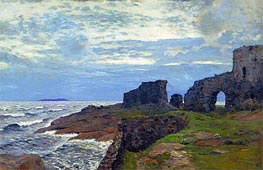 Isaac Levitan | The Rests of the Past. Twilight. Finland | Giclée Canvas Print