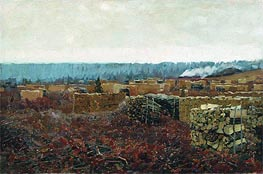 Isaac Levitan | Wood-Cutting  | Giclée Canvas Print