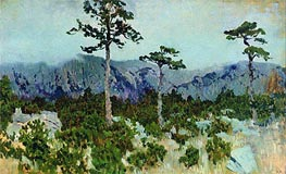 Isaac Levitan | Three Pines | Giclée Canvas Print
