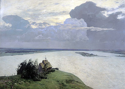 Above the Eternal Peace, 1894   Isaac Levitan   Painting Reproduction
