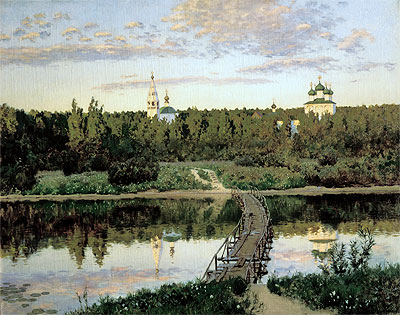 The Quiet Abode, 1890   Isaac Levitan   Painting Reproduction