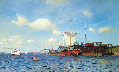 Isaac Levitan | Fresh Wind on the Volga, 1895 | Giclée Canvas Print