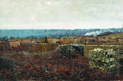 Wood-Cutting , 1898 | Isaac Levitan | Giclée Canvas Print